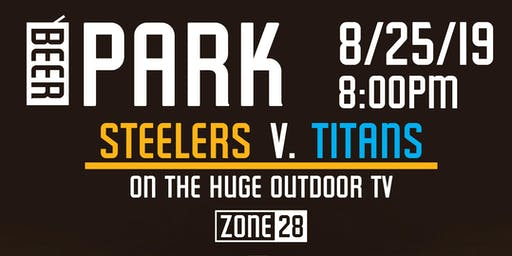 Steelers V. Titans in the Beer Park
