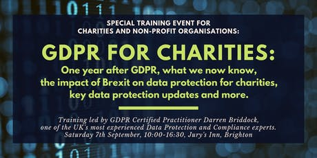Data Protection Seminar for Charities: One Year into GDPR tickets