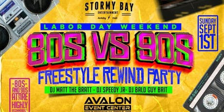 80s vs 90s Freestyle Rewind Party tickets