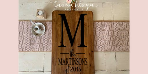 Monogrammed Hungarian Bread Boards