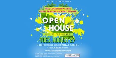 Emcee 20 Summer Open House - 08/27/2019 tickets