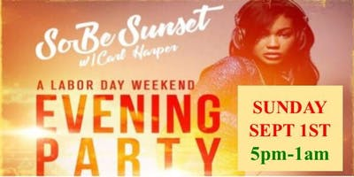 "Plz Fwd: HURRY...MANDATORY RSVP for FREE TICKETS while they last for ""SOBE SUNSET"" w/ CARL HARPER & Dj Loso...It's Carl Harper's Labor Day Weekend ""EVENING"" Indoor/Outdoor Party...Sun Sept 1st @ SoBe Restaurant!"