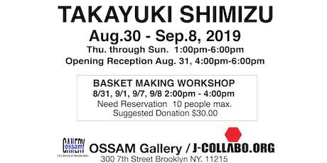 Bamboo art & crafts with Takayuki Shimizu tickets