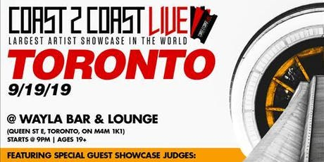 Coast 2 Coast LIVE Artist Showcase Toronto, Canada - $50K Grand Prize tickets