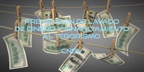 Curso Prevención de lavado de dinero y financiamiento al terrorismo boletos