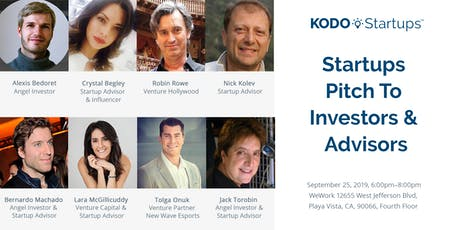 Startups Pitch To Investors & Advisors tickets