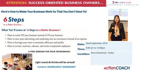 """You & Your Business""- 6 Steps to a Better Business tickets"