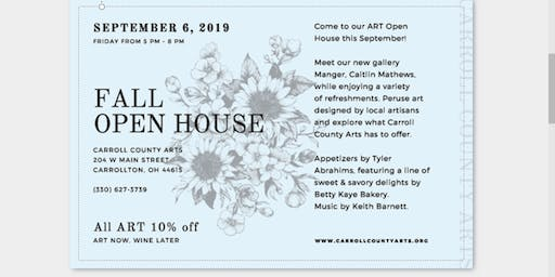 Fall Open House ~ Art Now Wine Later