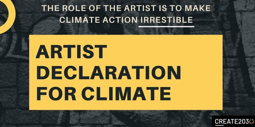 Pop Up Event:  Artist Declaration for Climate Week NYC