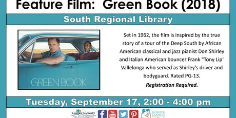Feature FIlm Green Book (2018) at South Regional Library tickets