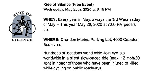 Ride of Silence 2020 tickets