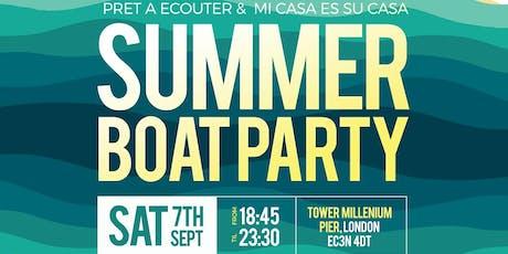Pret A Ecouter Records & Mi Casa Es Su Casa Summer Boat Party tickets