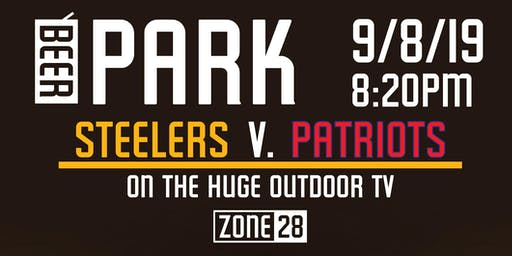 Steelers V. Patriots in the Beer Park