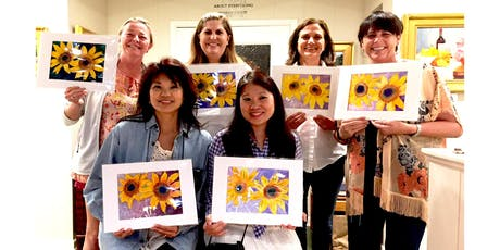 Watercolor & Wine -- Sip & Paint Experience Overlooking the Ocean tickets