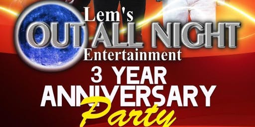 Front Cover Band! Presented By Out All Night Entertainment 3rd Year Anniversary Party!