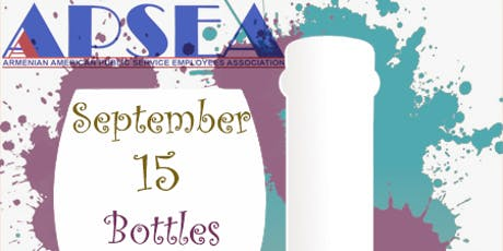 4th Annual Bottles & Brushes Event (Wine & Paint Night) tickets