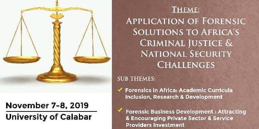 PanAfrican Forensic Conference 2019