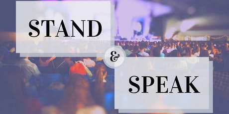 Stand & Speak tickets