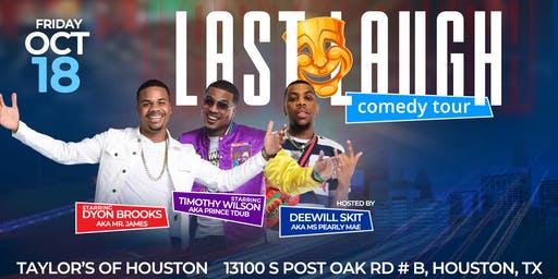 Last Laugh Comedy Tour (Houston)