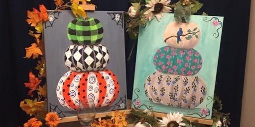 "Chathamites Wine and Paint ""My Style Pumpkins"" Painting at Vino!!"