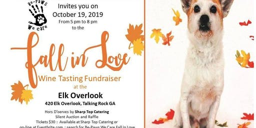 Be-Paws We Care Fall in Love Wine Tasting Fundraiser