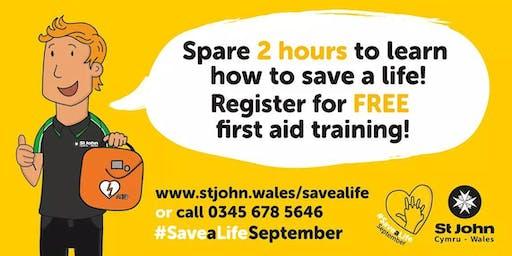 Save A Life September- First Aid Awareness