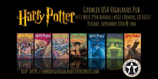 Harry Potter (Books) Trivia at Growler USA Highlands Pub