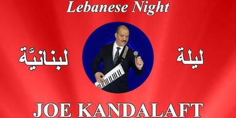 Dine and Dance,  live music by Joe Kandalaft tickets