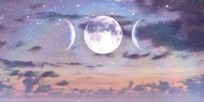 New Moon Circle With Oils