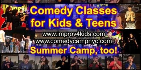 COMEDY 4 TEENS Saturday 10am FALL 2019 20% off tickets