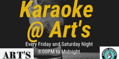 Karaoke at Art's tickets