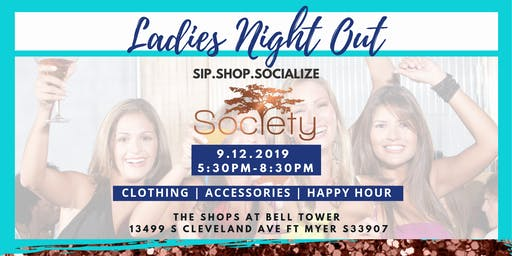 Sip.Shop.Socialize Ladies Night at Society
