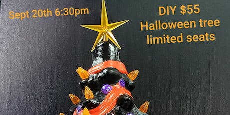 "DIY 14"" Supreme LIGHT UP Ceramic Halloween Tree tickets"