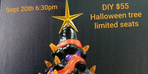 "DIY 14"" Supreme LIGHT UP Ceramic Halloween Tree"