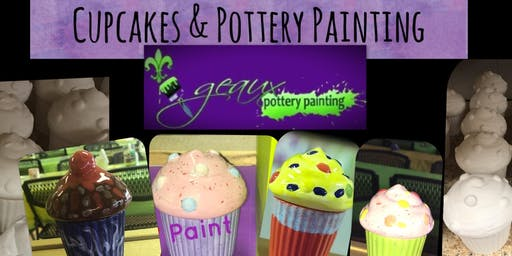 Cupcakes & Pottery Painting