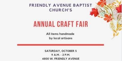 Friendly Avenue Baptist Craft Fair