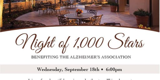 Night of 1,000 Stars Dinner Gala benefiting the Alzheimers Assoc