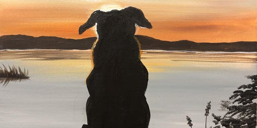 """Peaceful pup"" Paint Night banff"