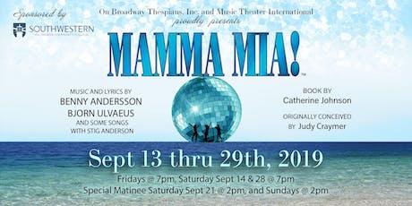 Mamma Mia! at the Hales Center tickets