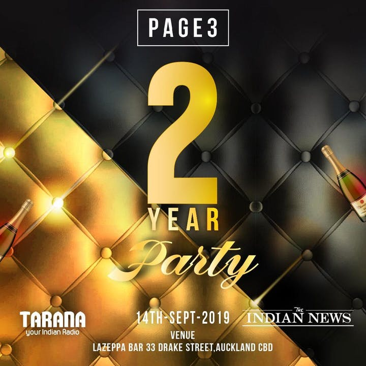 PAGE3 TWO YEAR BASH Tickets, Sat 14/09/2019 at 10:00 PM