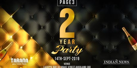 PAGE3 TWO YEAR BASH tickets