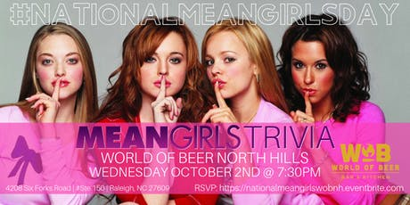 National Mean Girls Day Trivia Celebrated at World of Beer North Hills tickets