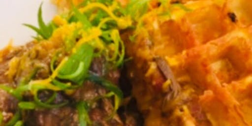 Culinary Series | BRUNCH: Savory Cheddar Waffles, Braised Jackfruit & Gravy