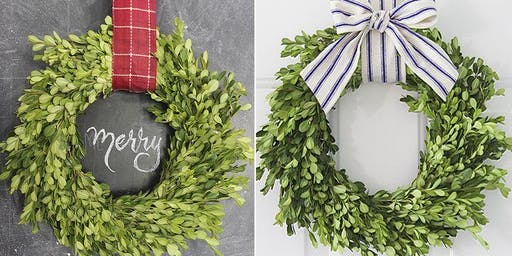 Fresh Boxwood wreath workshop