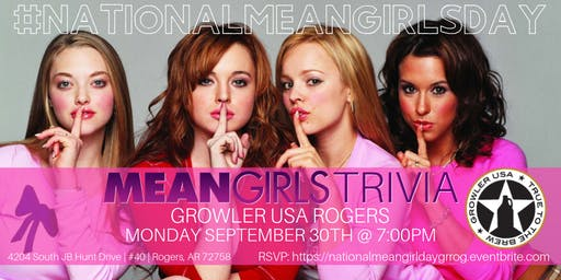 National Mean Girls Day Trivia at Growler USA Rogers