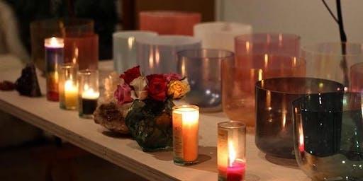 Sacred Light Sound Bath Meditation  by Arlene Uribe with an illumination of Reiki and ARK Crystal Healing by  Lorraine Pelayo