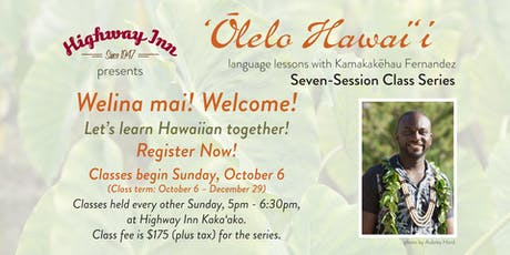 'Ōlelo Hawai'i with Kamakakēhau Fernandez tickets