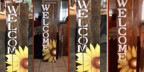 Sunflower Welcome Porch Sign  tickets