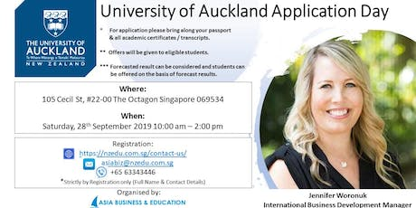 UNIVERSITY OF AUCKLAND APPLICATION DAY tickets