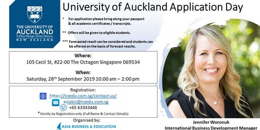 UNIVERSITY OF AUCKLAND APPLICATION DAY